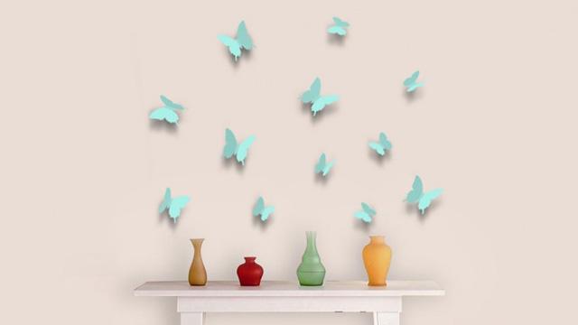 Nalepke 3D metulji