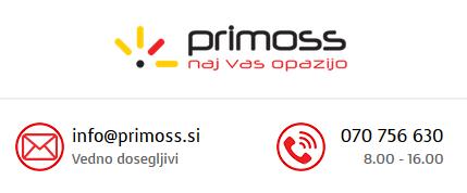 Primoss - vizitka